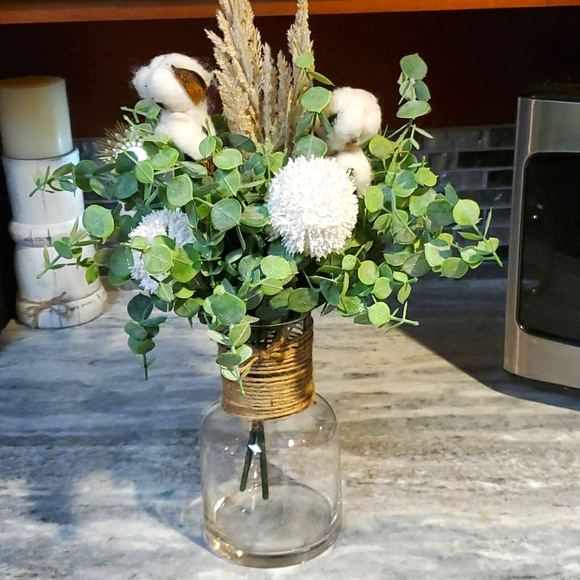 Rustic Country Cotton centerpiece 💐